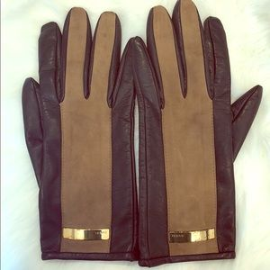 Gucci leather & suede gloves